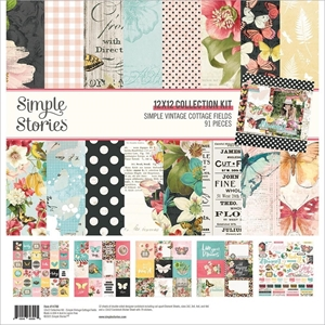 "Picture of Simple Stories Collection Kit 12""X12"" - Simple Vintage Cottage Fields"