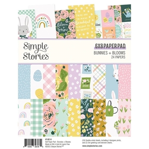 "Picture of Simple Stories Double-Sided Paper Pad 6""X8""  - Bunnies & Blooms"