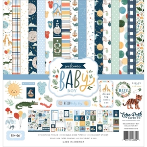 """Picture of Echo Park Collection Kit 12""""X12"""" - Welcome Baby Boy"""