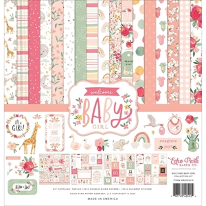 "Picture of Echo Park Collection Kit 12""X12"" - Welcome Baby Girl"