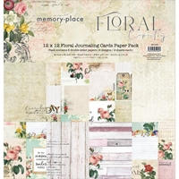 "Εικόνα του Memory Place Collection Pack 12""X12"" - Floral Tapestry Journaling Cards"
