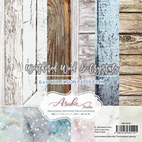 """Εικόνα του Asuka Studio Double-Sided Paper Pack 6""""X6"""" - Weathered Wood & Crystals"""
