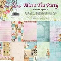 """Εικόνα του Memory Place Double-Sided Paper Pack 6""""X6"""" - Alice's Tea Party"""