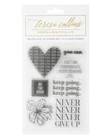 Εικόνα του Teresa Collins Set Σφραγίδες - Never Give Up