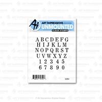 Εικόνα του Art Impressions Basics Clear Stamp - Small Alphabet
