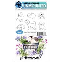 Εικόνα του Art Impressions Σετ Σφραγίδες Watercolor - Dogs