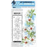 Εικόνα του Art Impressions Bible Journaling Clear Stamps - Lily Border