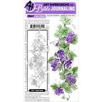 Εικόνα του Art Impressions Bible Journaling Clear Stamps - Grape Border