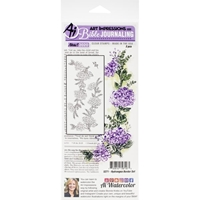Εικόνα του Art Impressions Bible Journaling Clear Stamps - Hydrangea Border