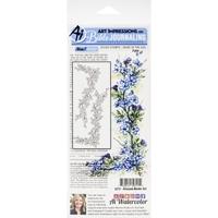 Εικόνα του Art Impressions Bible Journaling Clear Stamps - Blossom Border