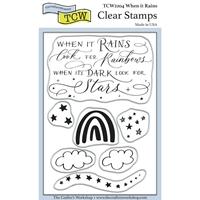 """Εικόνα του Crafter's Workshop Σετ Σφραγίδες Clear 4""""X6"""" - When it Rains"""