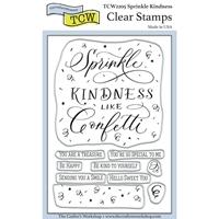 """Εικόνα του Crafter's Workshop Σετ Σφραγίδες Clear 4""""X6"""" - Sprinkle Kindness"""