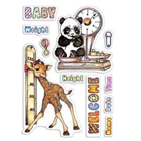 Εικόνα του Ciao Bella Clear Stamps 4''x6'' - Baby Height & Weight