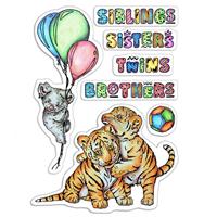 Εικόνα του Ciao Bella Clear Stamps 4''x6'' - Siblings