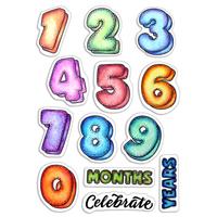 Εικόνα του Ciao Bella Clear Stamps 4''x6'' - Baby Months & Years