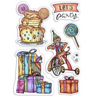 Εικόνα του Ciao Bella Clear Stamps 4''x6'' - Let's Party
