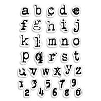 Εικόνα του Ciao Bella Clear Stamps 4''x6'' - Reporter Lowercase Alphabet