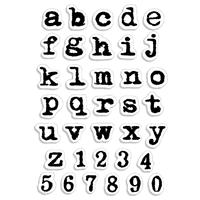 Εικόνα του Ciao Bella Clear Stamps 4''x6'' - Remintgon Lowercase Alphabet