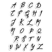 Εικόνα του Ciao Bella Clear Stamps 4''x6'' - Muse Uppercase Alphabet
