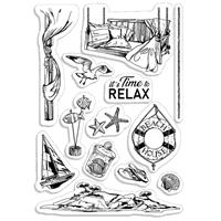 Εικόνα του Ciao Bella Clear Stamps 4''x6'' - It's Time to Relax