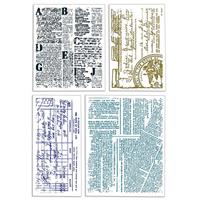 Εικόνα του Ciao Bella Clear Stamps 4''x6'' - Scraps