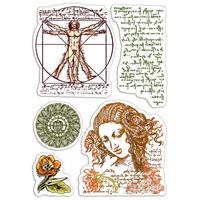 Εικόνα του Ciao Bella Clear Stamps 4''x6'' - Codex Leonardo