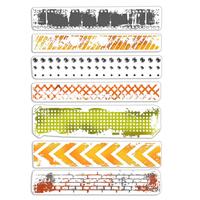 Εικόνα του Ciao Bella Bad Girls Clear Stamps 4''x6'' - Urban Borders