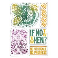 Εικόνα του Ciao Bella Bad Girls Clear Stamps 4''x6'' - If Not Now When