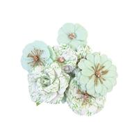 Εικόνα του Prima Marketing Watercolor Floral Χάρτινα Λουλούδια Mulberry - Minty Water