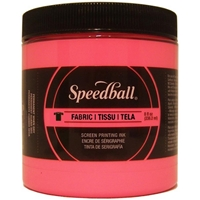 Εικόνα του Speedball Fabric Screen Printing Ink Fluorescent 8oz - Μελάνι Μεταξοτυπίας Hot Pink