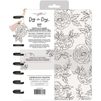 "Εικόνα του Maggie Holmes Day-To-Day Undated Freestyle Planner 7.5""X9.5"" - Black & White Floral"