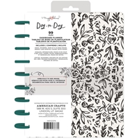 "Εικόνα του Maggie Holmes Day-To-Day Undated Dashboard Planner 7.5""X9.5"" - Black & White Floral"