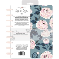 "Εικόνα του Maggie Holmes Day-To-Day Undated Dashboard Planner 7.5""X9.5"" - Blue & Pink Rose"