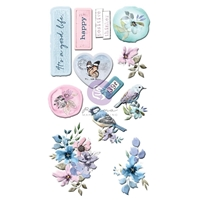 Εικόνα του Prima Marketing Watercolor Floral Puffy Stickers - Αυτοκόλλητα