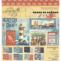 """Εικόνα του Graphic 45 Μπλοκ Scrapbooking Διπλής Όψης 8""""X8"""" - Catch Of The Day"""