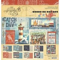 """Εικόνα του Graphic 45 Μπλοκ Scrapbooking Διπλής Όψης 12""""X12"""" – Catch of the Day"""