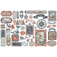 Εικόνα του Graphic 45 Cardstock Double-Sided Ephemera - Catch οf The Day