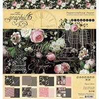 """Εικόνα του Graphic 45  Μπλοκ Scrapbooking Διπλής Όψης 8""""X8"""" - Elegance"""