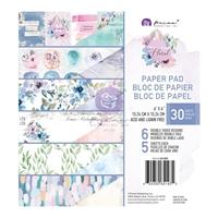 """Εικόνα του Prima Marketing Watercolor Floral Μπλοκ Scrapbooking Διπλής Όψης 6""""X6"""""""