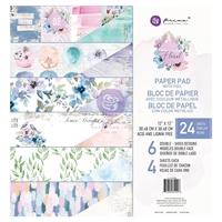 """Εικόνα του Prima Marketing Watercolor Floral Μπλοκ Scrapbooking Διπλής Όψης 12""""X12"""""""