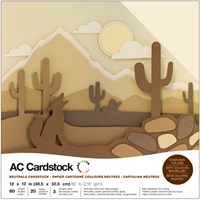 "Εικόνα του American Crafts Cardstock Pack 12""X12"" - Neutrals (60τμχ)"
