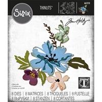 Εικόνα του Σετ μήτρες κοπής Sizzix Thinlits του Tim Holtz - Brushstroke Flowers 2