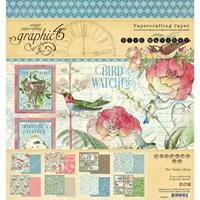 """Εικόνα του Graphic 45 Μπλοκ Scrapbooking Διπλής Όψης 8""""X8"""" - Bird Watcher"""