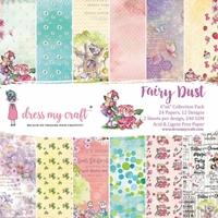 "Εικόνα του Dress My Craft Μπλοκ Scrapbooking 6""X6"" - Fairy Dust"
