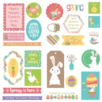 Εικόνα του Baskets Of Bunnies Ephemera Cardstock Die-Cuts