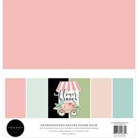 """Εικόνα του Carta Bella Μπλοκ Μονόχρωμων Φύλλων Διπλής Όψης 12""""x12"""" – Flower Garden"""