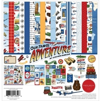 "Εικόνα του Carta Bella Διπλής 'Οψεως Collection Kit 12""x12"" – Our Travel Adventure"