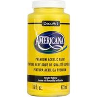 Εικόνα του Ακρυλικό Χρώμα Americana Bright Yellow - 16oz