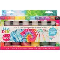 Εικόνα του American Crafts Medium Tie Dye Kit 12 Colors - Bright  Distressed 36 Projects