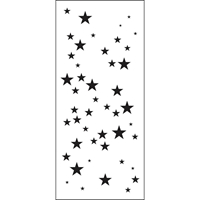 "Εικόνα του Crafter's Workshop Slimline Stencil 4""X9"" - Star Sparkle"